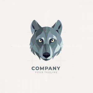 Stylized Wolf Head Logo