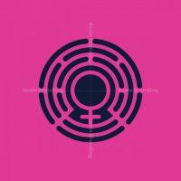 Circular Women Sign Security Logo