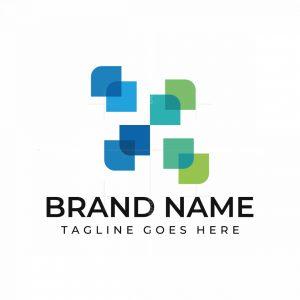 X Letter Digital Logo