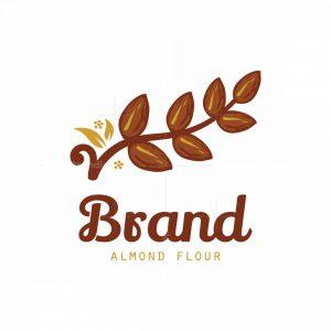 Almond Flour Symbol Logo
