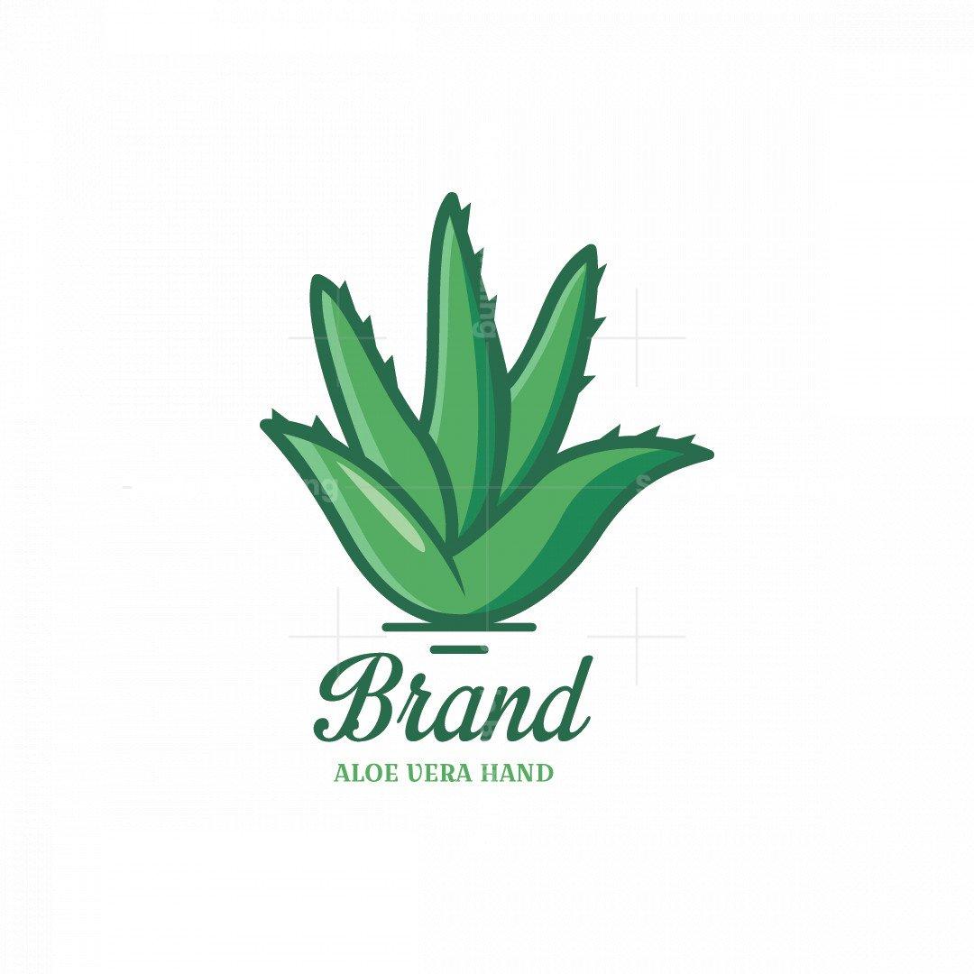 Aloe Vera Hand Symbol Logo