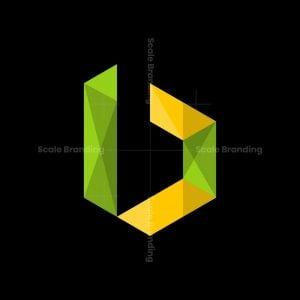 Letter B Polygon Modern Logo