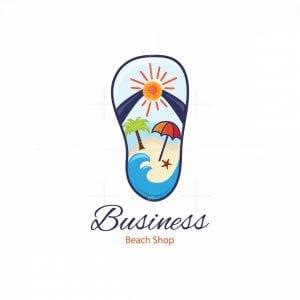 Beach Shop Symbol Logo