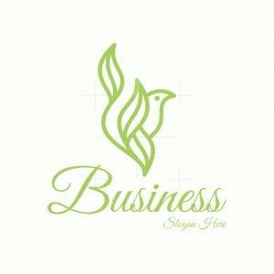 Bird Leaf Nature Logo