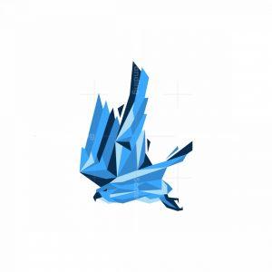 Geometric Eagle Icon Logo