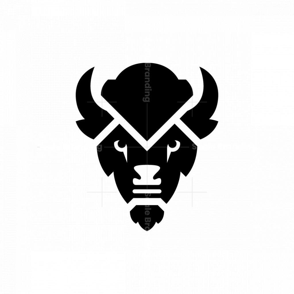 Buffalo Logo Bison Head Logo