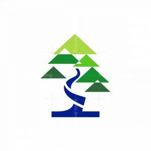 Geometric Bonsai Icon Logo