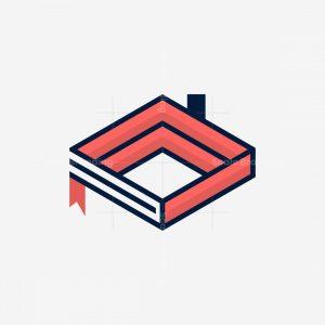 Book Home Minimalist Logo
