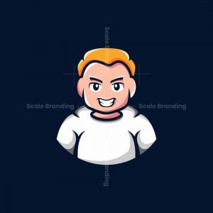 Boy Mascot Character Logo