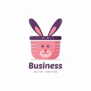 Bunny Basket Symbol Logo