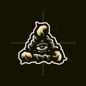 Dota Wards Eye Of Providence Esports Mascot Logo Design