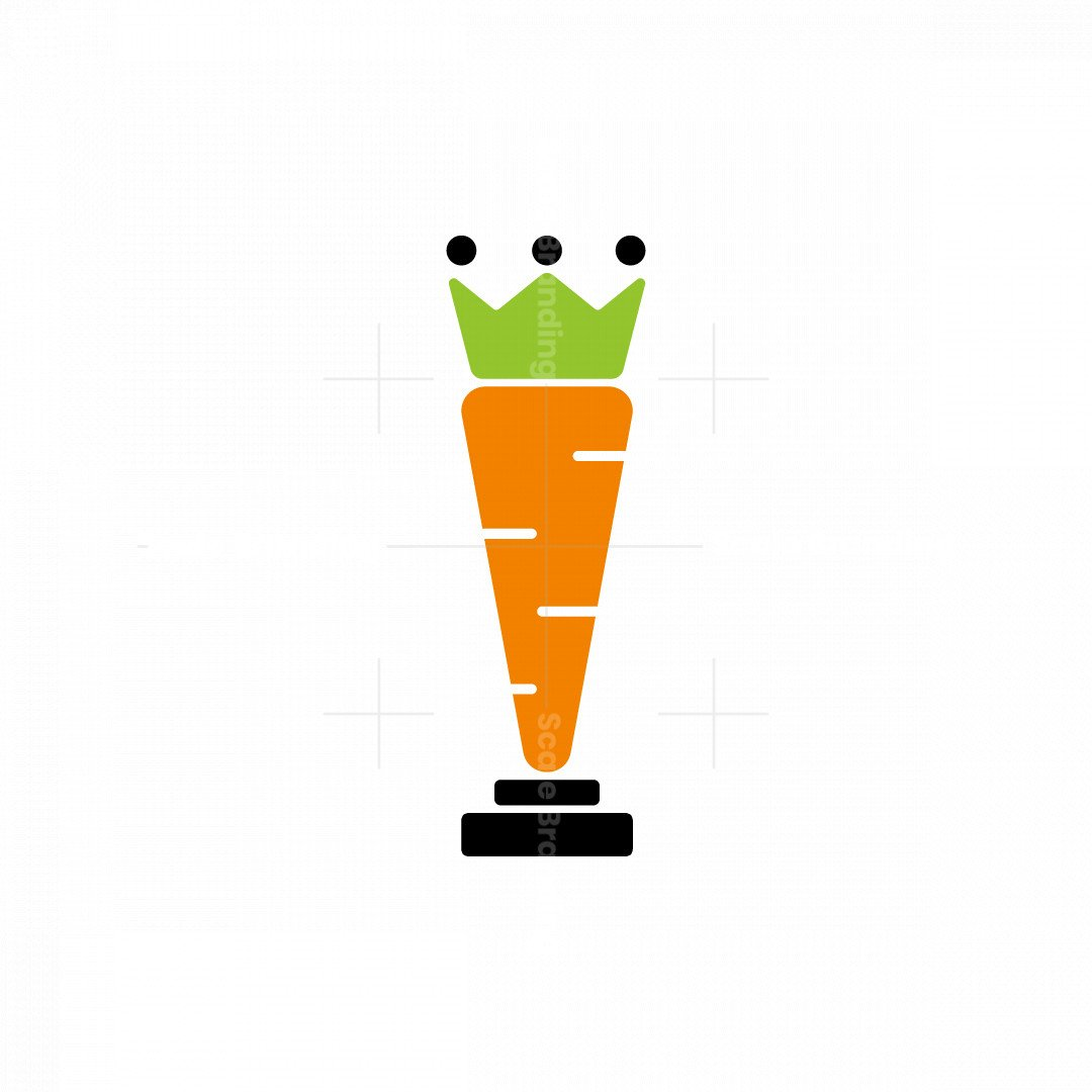 Fresh Carrot And Rook Chess Logo