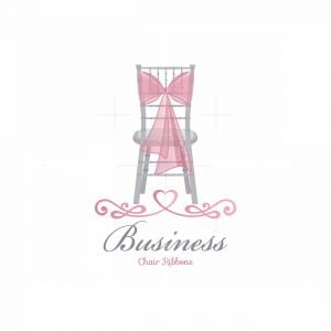 Chair Ribbon Wedding Symbol Logo