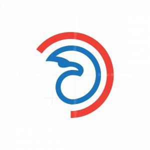 Circle Eagle Head Logo