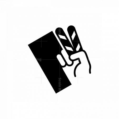 Clapper Hand Logo