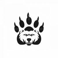 Claw Bear Silhouette Logo