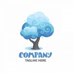 Clouds Tree Logo