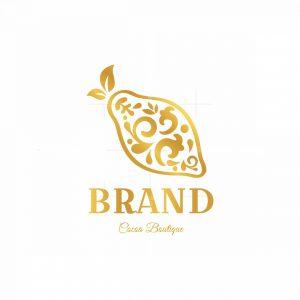 Cocoa Boutique Chocolatier Symbol Logo