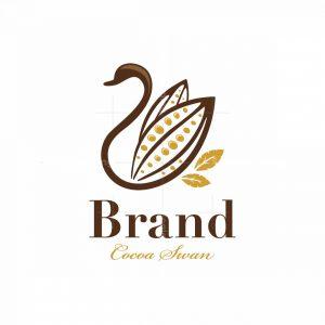 Cocoa Swan Symbol Logo