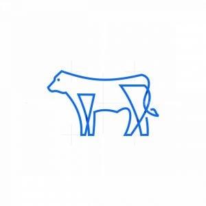 Line Art Cow Icon Logo