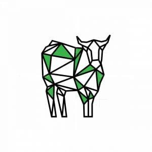 Geometric Cow Icon Logo