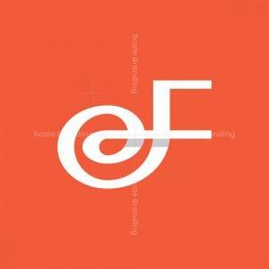 Curvy Letter F Logo