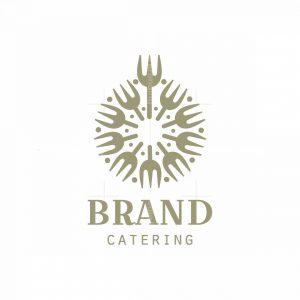 Dandelion Flower Catering Modern Logo