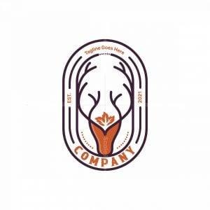Deer Head Symbol Logo