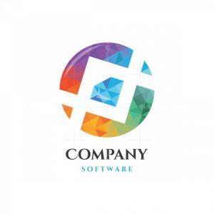 Diamond Center Software Symbol Logo