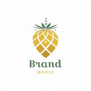 Digital Pinecone Symbol Logo