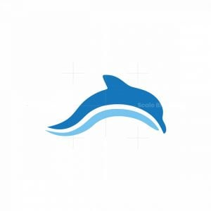 Dolphin Wave Sea Mammals Logo