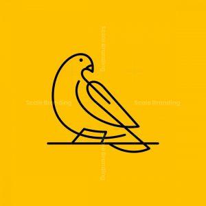 Line Art Dove Icon Logo