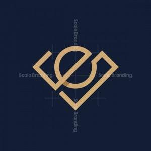 Letter E Diamond Logo