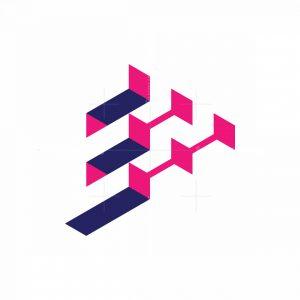Letter E Tech Logo