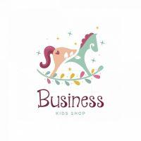 Eco Horse Kids Shop Symbol Logo
