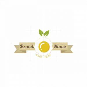 Organic Eggs Farm Symbol Logo