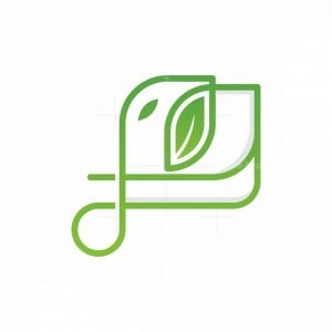 Elephant Leaf Line Logo