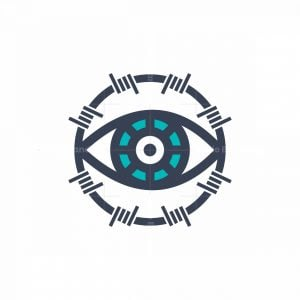 Eye And Barbed Wire Icon Logo