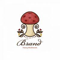 Fancy Mushroom Symbol Logo
