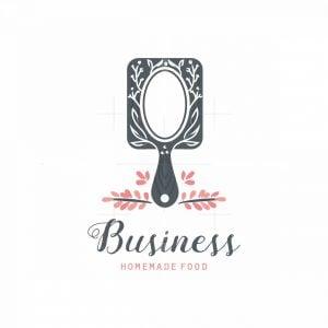 Female Chef Homemade Food Symbol Logo