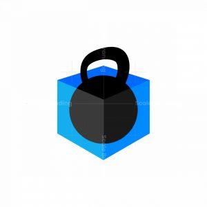 Kettlebell Box Icon Logo