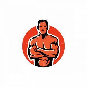 Fit Man Mascot Logo