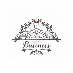 Floral Bakery Symbol Logo