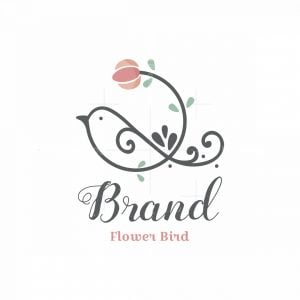 Flower Bird Symbol Logo