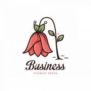 Flower Dress Symbol Logo