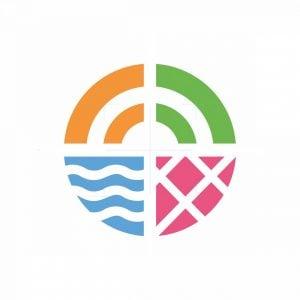 Unique Vacation Holiday Logo