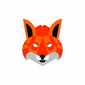 Geometric Fox Icon Logo