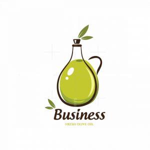 Fresh Olive Oil Symbol Logo