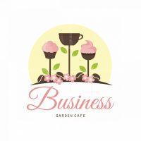 Garden Cafe Symbol Logo