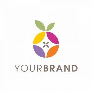 Geometric Fruit Logo